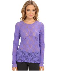 Hanky Panky Signature Lace Unlined Long Sleeve Top - Lyst