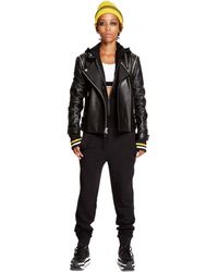 DKNY Carad4 Leather Jacket - Lyst