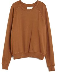 The Great Destroyed College Sweater beige - Lyst