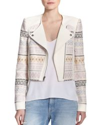 BCBGMAXAZRIA Cody Printed Knit Jacket multicolor - Lyst