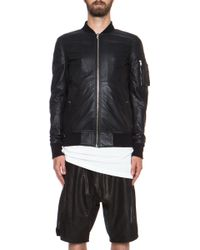 Rick Owens Glass Ice Flight Leather Bomber - Lyst
