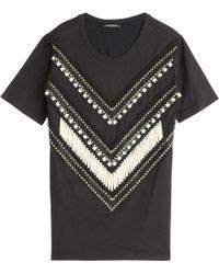 Balmain Embroidered T-Shirt - Lyst