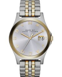 Marc By Marc Jacobs Women'S The Slim Two-Tone Stainless Steel Bracelet Watch 36Mm Mbm3319 - Lyst