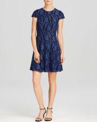 Cynthia Steffe Dress - Delphine Rose Textured Cap Sleeve - Lyst