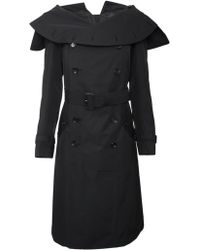 Junya Watanabe Belted Trench Coat Black - Lyst