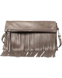 Pietro Alessandro | Fold Over Fringe Clutch | Lyst