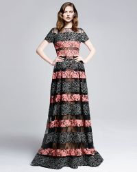 Elie Saab Floral Emboidered Lace Gown - Lyst