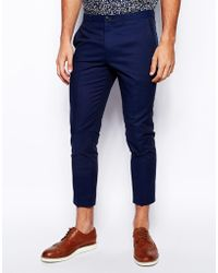 Selected Linen Mix Casual Suit Trousers - Lyst