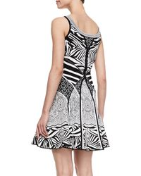 Diane Von Furstenberg Fanny Sleeveless Fitandflare Dress Zebra Tattoo - Lyst