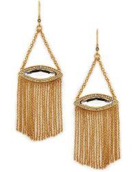 Rebecca Minkoff Phoenix Fringe Drop Earring gold - Lyst
