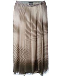 Giorgio Armani 'Arena' Skirt brown - Lyst
