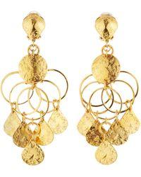 Jose & Maria Barrera | Golden Loop Chandelier Clip Earrings | Lyst