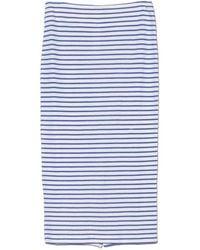 The Lady & The Sailor - Mediterranean Stripe Knit Pencil Skirt - Lyst