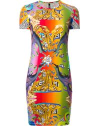 Versus  Graphic Print Stretch Dress - Lyst