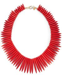 Kenneth Jay Lane Tapered Bead Necklace - Lyst
