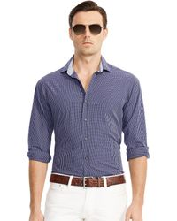 Ralph Lauren Black Label Checked Sloan Sport Shirt - Lyst