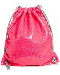 Asos Sequin Pe Drawstring Bag - Lyst