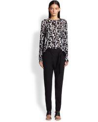 Proenza Schouler Tropical Wool Side-Tie Trousers - Lyst
