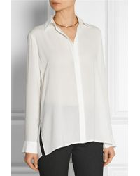 The Row Carlton Oversized Crepe Blouse - Lyst
