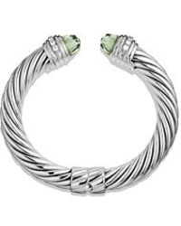 David Yurman 10mm Prasiolite Silver Ice Bracelet - Lyst