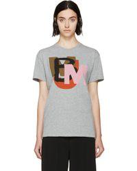 Marc By Marc Jacobs Grey Multi Logo T_Shirt - Lyst