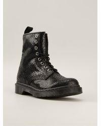 Dr. Martens  Snakeskin Finish Boots - Lyst