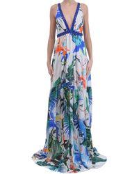 Roberto Cavalli Silk-Chiffon-Dress - Lyst