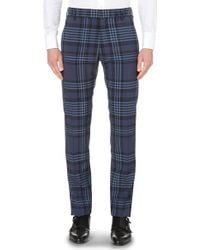Vivienne Westwood Checked Tailored-Fit Tapered Trousers - For Men blue - Lyst