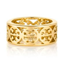 Tory Burch Kinsley Logo Band Ring - Lyst
