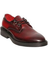 Diesel Mottled Leather Derby Laceup Shoes - Lyst