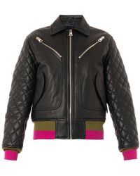 Jonathan Saunders Marley Quilted Leather Bomber Jacket - Lyst