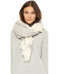 Spun By Subtle Luxury - Plaid Border Blanket Scarf - Lyst