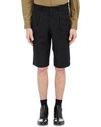 Comme des Garçons Leopard-Seam Trouser Shorts black - Lyst