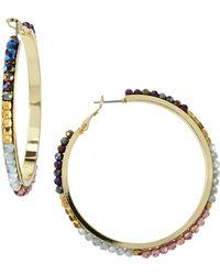 Nakamol Multicolor Beaded Hoop Earrings - Lyst