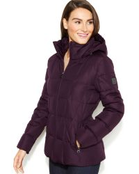 Calvin Klein Hooded Quilted Down Puffer Coat - Lyst