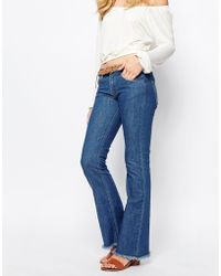 First & I - Raw Hem Jean - Lyst