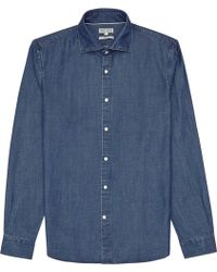 Reiss Federico Slim-Fit Shirt blue - Lyst