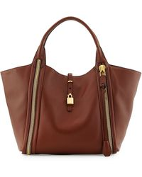 Tom Ford Amber Doublezip Leather Tote Bag - Lyst