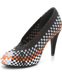 Alexander Wang Carla High Heel Pumps - Black/Optic White/Shiny Orange - Lyst