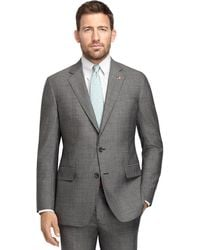 Brooks Brothers Own Make Black and White Tic 102 Suit - Lyst