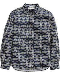 H&M Patterned Corduroy Shirt - Lyst