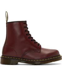 Dr. Martens Burgundy Leather W 8_eye Boots - Lyst