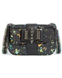 Christian Louboutin 'Sweet Charity' Patent Leather Shoulder Bag black - Lyst