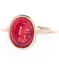River Island Pink Semiprecious Single Stone Ring - Lyst