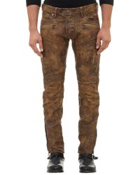 Ralph Lauren Black Label Coated Raider Moto Ascari Jeans - Lyst