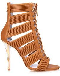 Balmain Hopi Leather Sandals - Lyst