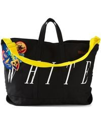 Off-White c/o Virgil Abloh - Patched Stripe Tote - Lyst