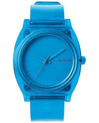 Nixon Time Teller P Blue Translucent Watch - Lyst