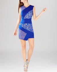 BCBGMAXAZRIA Dress - Dalia Sleeveless Asymmetric Lace Illusion - Lyst