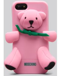 Moschino Iphone 55s Case Brown Bear - Lyst